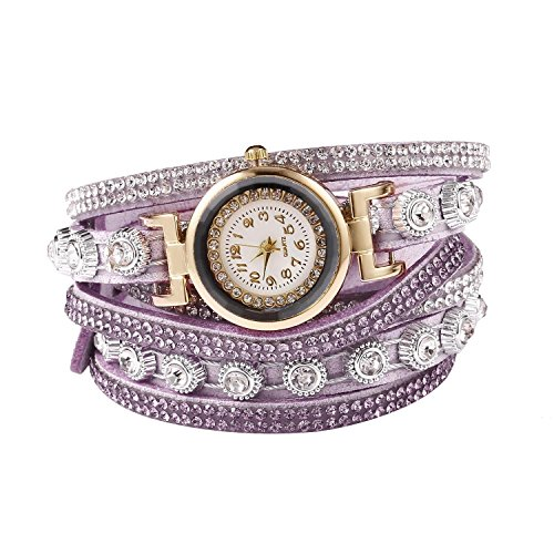 bracelet watches for women,IEnkidu Casual Decor Round Rhinestone Bracel Wrist Watches from IEnkidu