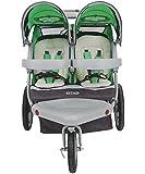 Instep Grand Safari Double Jogger Stroller-Green Black