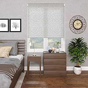 Blinds2Curtains Polyester White 150 cm x 100 cm Andrea Floral Roller Blind