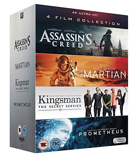 UHD 4 Film Collection [Assassin's Creed, The Martian, Kingsman & Prometheus] [4K UHD] by