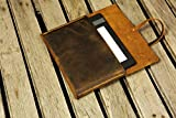 Distressed leather kindle Fire HD 8 10 case cover / Simple retro brown leather Fire HD 8 10 cover case FHX05S-S
