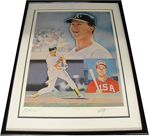 Sports Mark Mcgwire Hand Signed (Mark McGwire Hand Signed Autographed 18x24 Photo Custom Framed USA A's Dodgers)