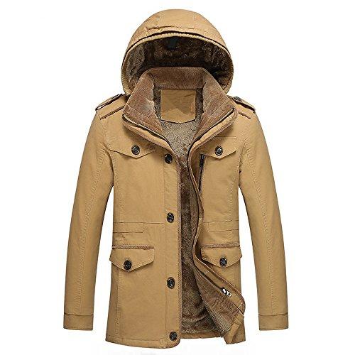 jaune 6XL Hommes's veste Veste Homme Décontracté Veste Manteau Manteau Long Manteau en Coton