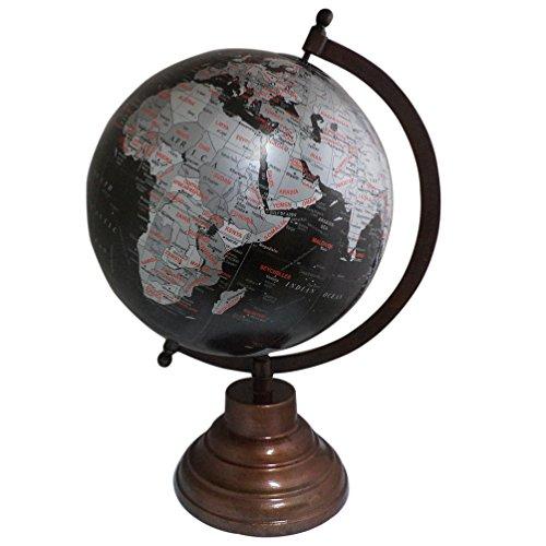 Iron Stand 14 Inch Antique Globe Decorative Plastic Globe Handmade Globe ()