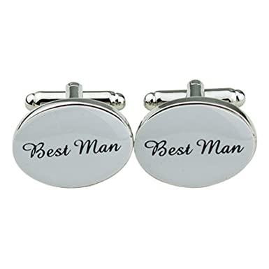 1 Pair Mens Silver Oval Wedding Cufflinks Groom Best Man Usher ...