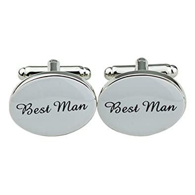 One Pair of Mens Silver Oval Wedding Best Men Usher Groom Cufflinks Wedding Gift (Best  sc 1 st  Amazon UK & One Pair of Mens Silver Oval Wedding Best Men Usher Groom Cufflinks ...