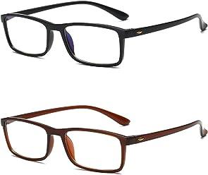 f6d60820a2 VEVESMUNDO Gafas de Lectura Hombre Mujer Luz Azul Protección Grandes  Antifatiga Flexibles Graduadas Anteojos Vista Lejos