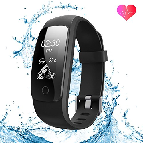 runme Fitness Tracker by Upgraded 2018 3rd Generation Activity Tracker, Sports Fitness Watch with Sleep and Heart Rate Monitor, IP67-rated Waterproof Smart Band with Pedometer for Smartphone