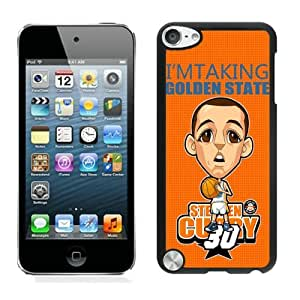 New Custom Design Cover Case For iPod Touch 5th Generation Golden State Warriors Stephen Curry 9 Black Phone Case
