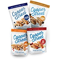 COOPER STREET, Biscotti Variety Pack, Pack of 4, 5oz Bags, Dairy Free, Nut Free, Soy Free, Low Calorie Gourmet Cookies