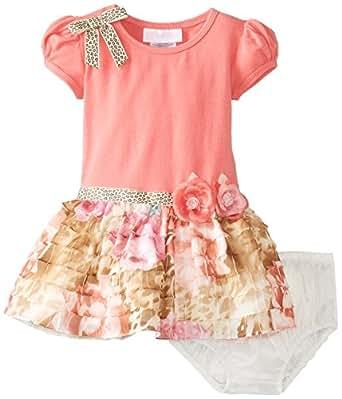 Amazon Bonnie Baby Girls Printed Eyelash Dress Clothing