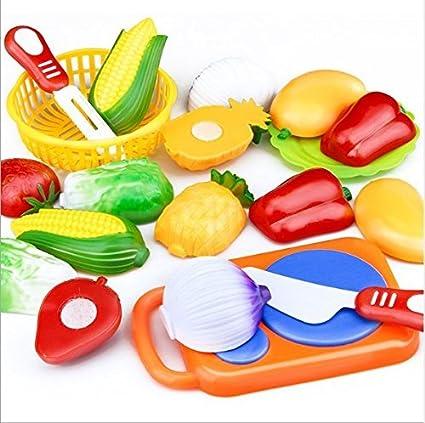 744bb574de0 URbeauty 1 Set 12Pecies Children Play Simulation House Toys Cut Fruit  Plastic Vegetables Kitchen Baby Classic