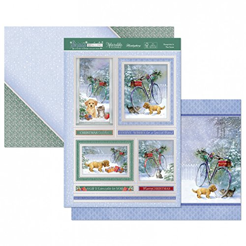 Hunkydory Snow is Falling- Pawprints in The Snow 3-pc Topper Collection