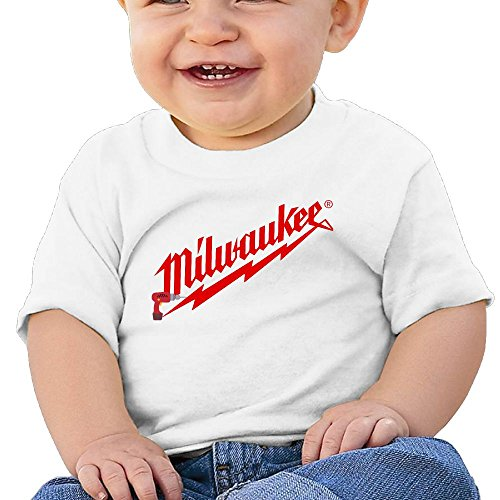 Power Tool Logo Milwaukee Cotton Hiphop Short Sleeve Tees for Baby Gift 24 Months
