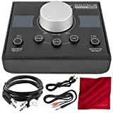 Mackie Big Knob Passive Monitor Controller and Accessory Bundle with 4X Cables + Fibertique Cleaning Cloth