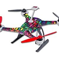 Skin For Blade 350 QX3 Drone – Stained Glass Window | MightySkins Protective, Durable, and Unique Vinyl Decal wrap cover | Easy To Apply, Remove, and Change Styles | Made in the USA