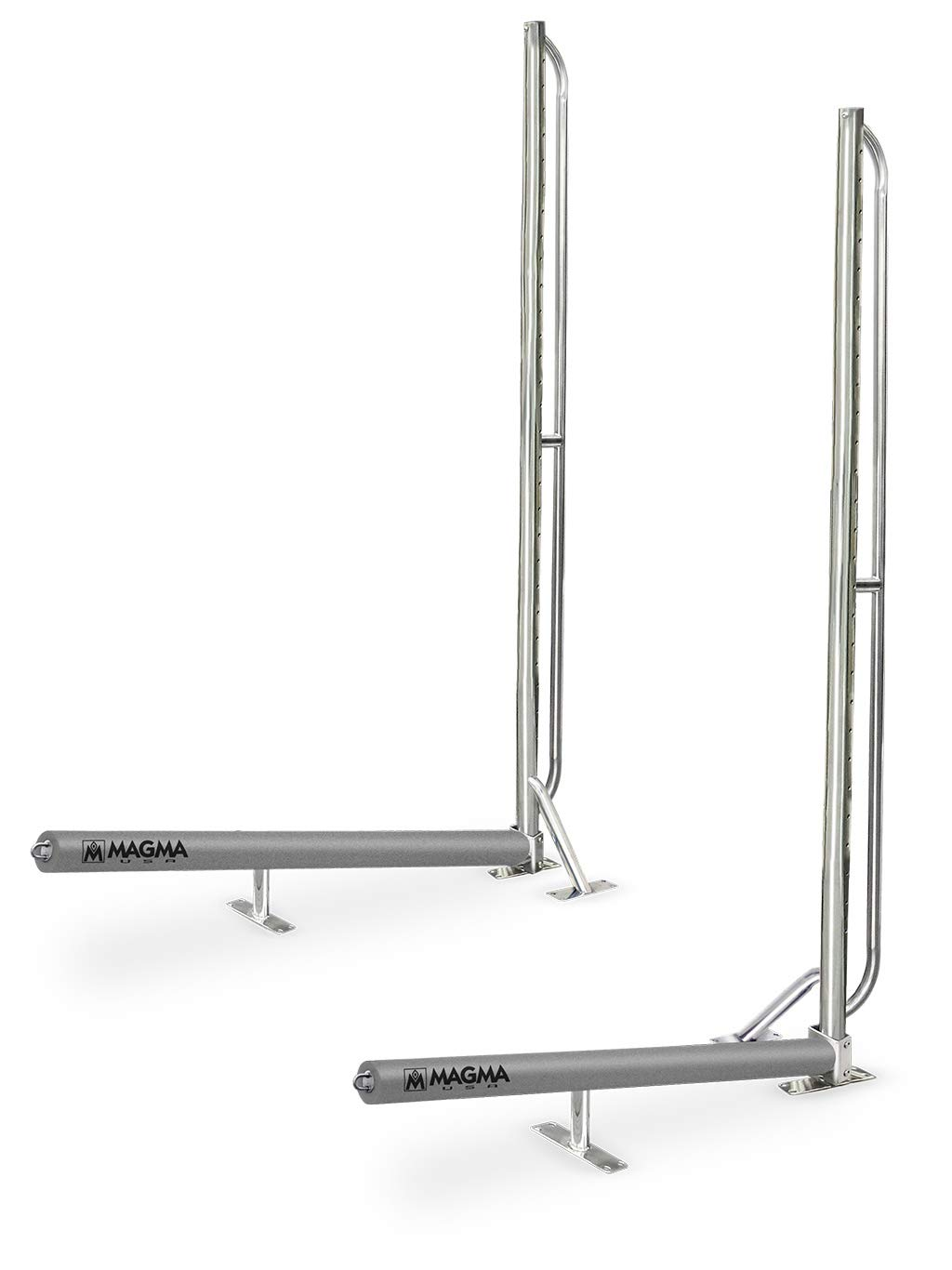 Magma Products, R10-1001 Storage Rack System Base Frame Kayak/SUP Dock Mounted, Polished Stainless Steel