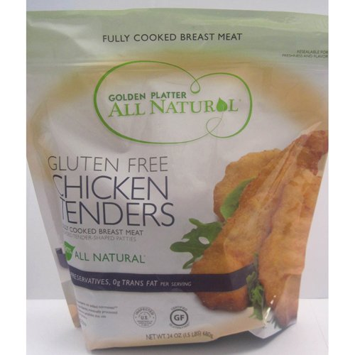 Gluten Free Chicken Breast Tenders Frozen - 24 oz (Pack of 8) by Golden Platter
