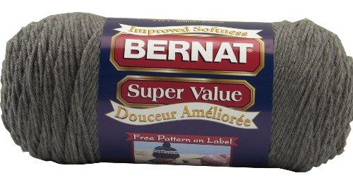 bernat-super-value-yarn-true-grey-single-ball