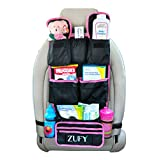 Backseat Car Organizer |Best Baby Travel Accessories for Kids Toy Storage Ideas|FREE Travel Gifts|Available in Blue and Pink| 100% Moneyback Satisfaction Guaranteed