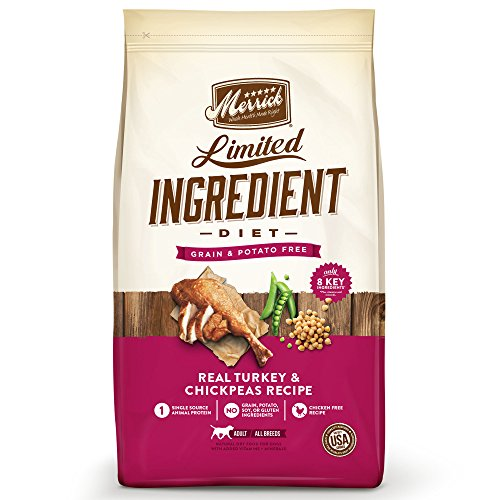Merrick Dry Dog Food with Vitamins & Minerals for All Breeds , 22 lb, Turkey (Best Dry Dog Food For Colitis)