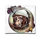 "Miniisoul Pillowcase Covers 18""X18"" Pillow Case Cover Cosmic Space Chimp Fun Double Printed Cotton Square Throw Decorative Cushion For Sofa"