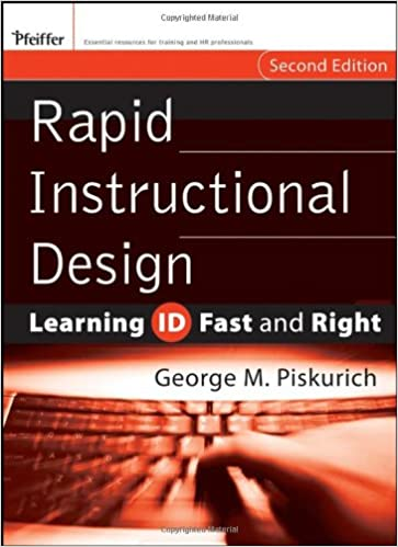 Rapid Instructional Design Learning Id Fast And Right Piskurich George M 9780787980733 Human Resources Amazon Canada
