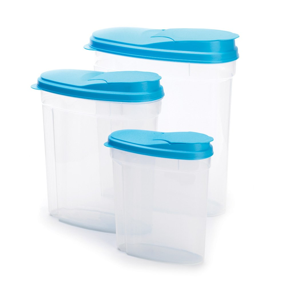 Amazon.com   3Pc Plastic Kitchen Food Cereal Storage Container Set   Food  Savers