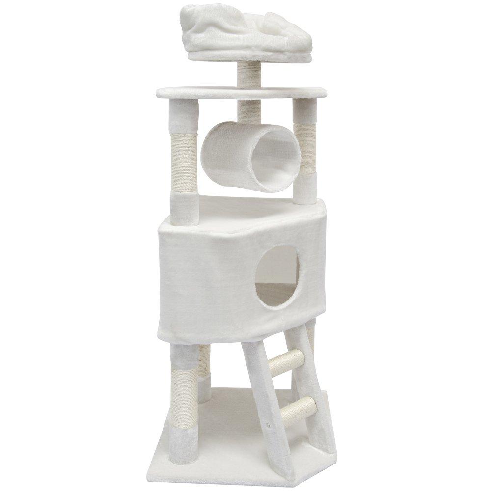 kratzbaum amelie f r katzen in wei lohnt sich der kauf. Black Bedroom Furniture Sets. Home Design Ideas