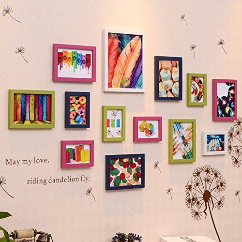 Bilderrahmen* Foto Wand Foto frame Wand Foto rahmen kreative Kombination von Kinderzimmer, Weiß, Grün und Blau, 13.