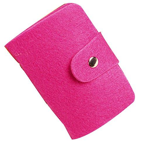 Women Felted Wool Pocket ID Credit Cards Holder Case Purse Business Wallet - Names Female Hong Kong