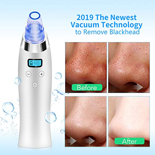 Comezy Blackhead Remover Pore Vacuum with 4 Probes,Electric Blackhead Removal Suction Extractor Kit Tools,5 Adjustable…