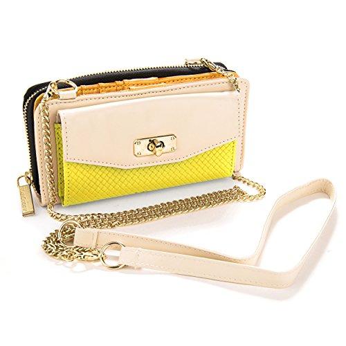 Wallet Venice Cream Yellow Premium Clutch VanGoddy Smart Cover Wristlet Women's HqFwAUF