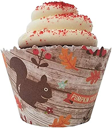ounona wrap S Pumpkin Cupcake Liners Muffin Cases Party Favors Cake Cup for Halloween 100pcs