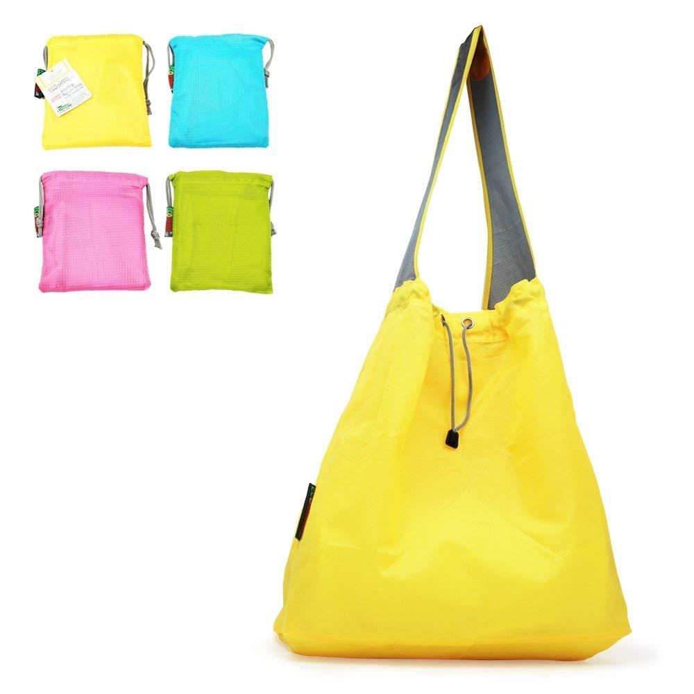 最前線の 特許出願中: Ecojeannie 4パックLarge超強力なリップストップナイロン折りたたみ式再利用可能なショッピングバッグ w、旅行バッグ、ビーチバッグ Inch、Grocery Tote 5 w/ポーチ&インナーポケット、draw-string、強化ハンドル 15.5 H X 15 W X 5 Inch D/ 28 Inch Handle イエロー B06XG89SBD Yellow-Pink- Blue-Green Yellow-Pink- Blue-Green 4, 友部町:8bbda5cc --- diesel-motor.pl