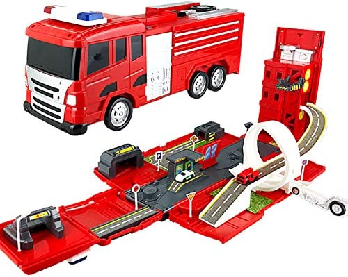 Amazon com: Yyz Fire Truck Rail car 2 in 1 Educational Toys