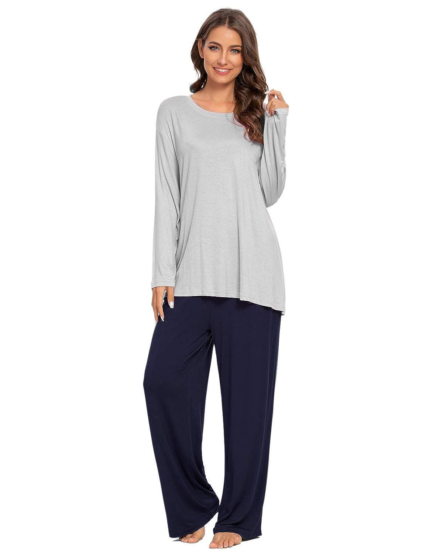 Goso Pijamas Mujer Pijamas De Mujer Ropa De Domir Manga Pantalon Sueltos Largos Estilo Jogging Conjuntos De Salon Suave Ropa Ropa De Dormir