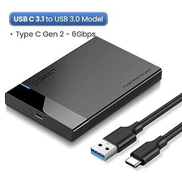 SUNDELLAO Caso 2.5 SATA HDD a USB 3.0 Adaptador Caja para Disco ...