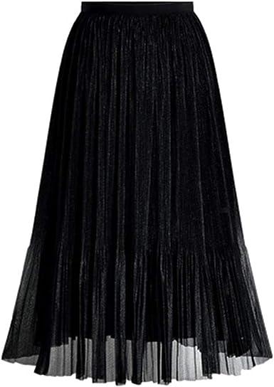 Poachers Faldas largas Mujer Fiesta Elegante Falda Tul Mujer Midi ...