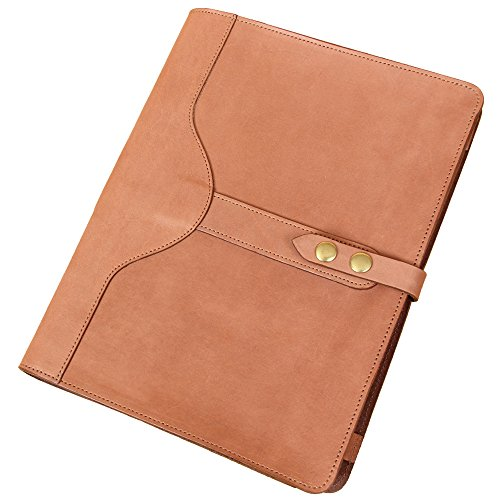 Saddle Tan Leather Portfolio Case for iPad Pro Tablet Pocket No. 26 Business