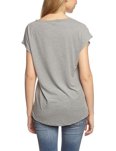 Selected - Camiseta de manga 3/4 con cuello redondo para mujer, color grau (medium grey melange bs), talla 38
