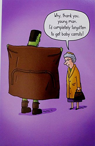 Adult Halloween Cards (Why Thank You Young Man - Funny / Humor Frankenstein Happy Halloween Greeting Card)