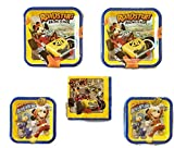 Mickey Mouse 'Mickey and the Roadster Racers' Party Bundle 9'' Plates (16) 7'' Plates (16) Lunch Napkins (16)