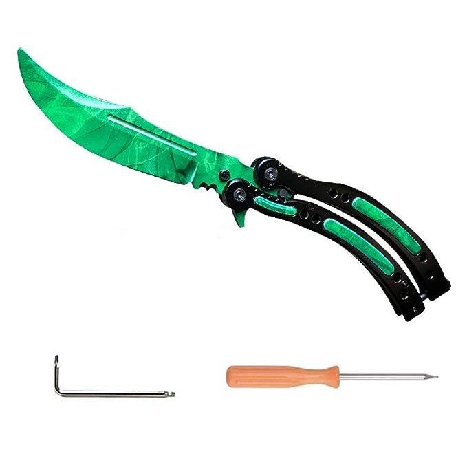 Nuevo CsGo Herramientas De Entrenamiento De Seguridad|El Entrenador De Acero Inoxidable|Ejercicios de Cuchillo(Nuevo Verde)