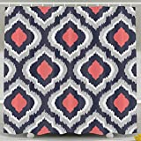 Pink and Navy Shower Curtain Jianyue Gray Coral Pink and Navy Blue Moroccan Shower Curtain,Bath Curtains Bath DecorationsShower Bath Curtain for Bathroom,Polyester Fabric Bathroom Shower Curtain