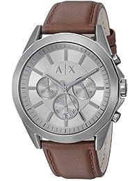 Armani Exchange AX2605 Watch, Men, Gunmetal IP Brown Leather