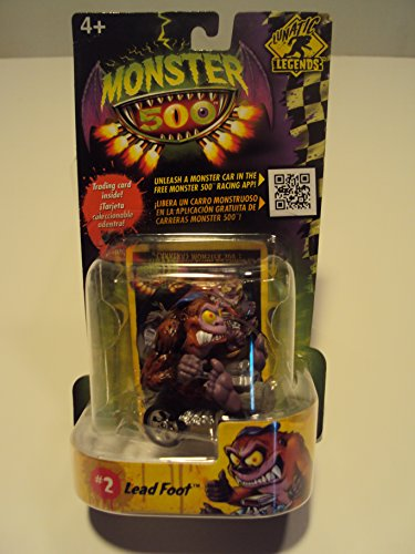 Monster 500 Trading Card & Small Car Figure Lead Foot