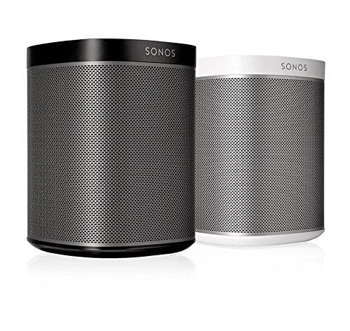 Sonos Play 1 2 Room Streaming Music Starter Set Bundle  Black   White