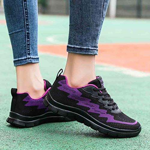Running Aire Deportivas Para Deporte Tejidos Logobeing Mujer Zapatos Gimnasia Net Zapatillas De 35 Sneakers Estudiante Cojines Purple 2019 41 Volar Calzado Con 6qxX0xwg