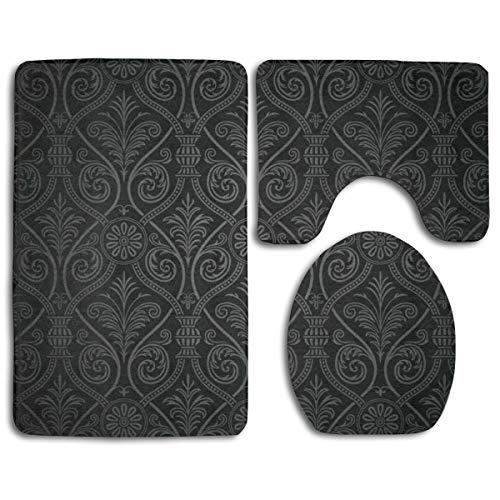 Beach Surfers Antique Baroque Mild Ombre Gothic 3 Piece Bathroom Mat Sets Pedestal Rug Lid Toilet Cover Doormat Carpet Rug Bath -